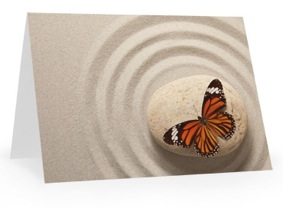 Gift card butterfly
